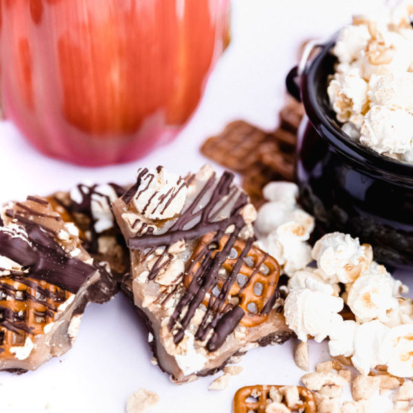 Fall themed Boo Limited Edition Toffee with Popcorn, Peanuts, Pretzels