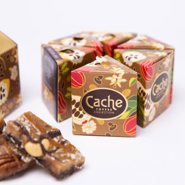 gifting cache toffee 6 flavor gift box